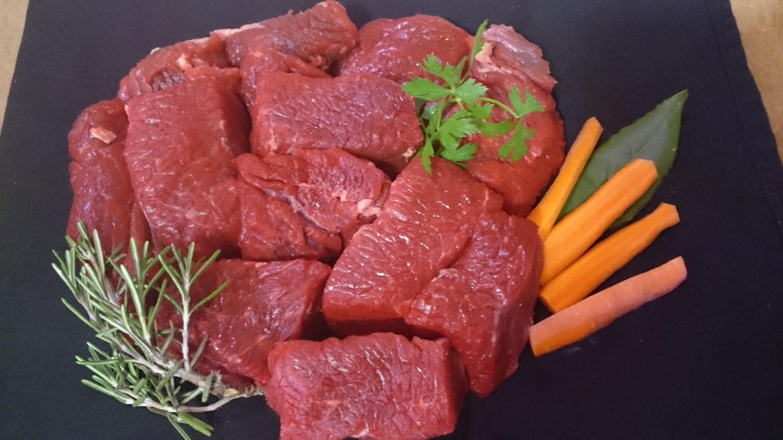 Bourguignon de bœuf Bio 500 gr, (21,9€/Kg)